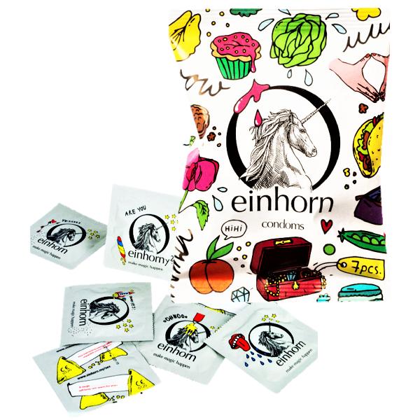 Einhorn Kondome Muschigegenstände