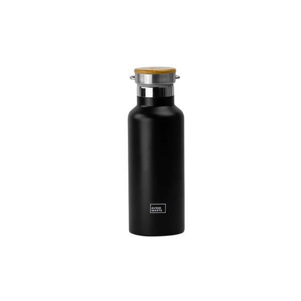 Isolierflasche schwarz matt 500ml