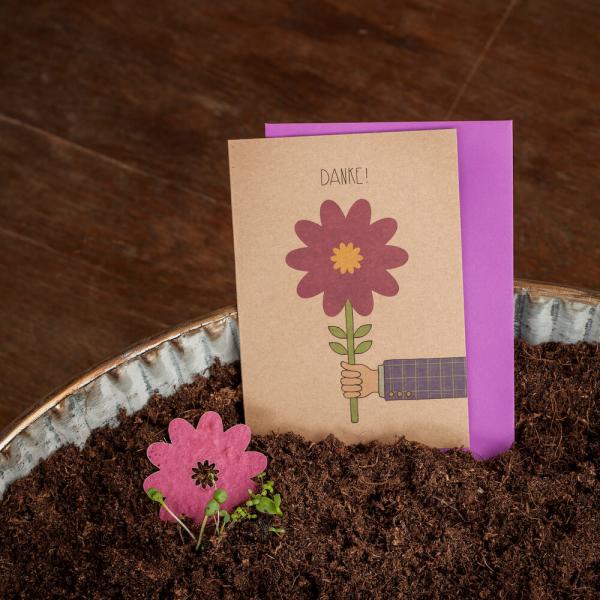 Grußkarte - Danke - Blume