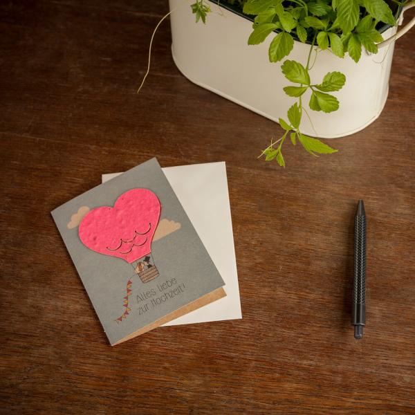 Grußkarte - Alles liebe zur Hochzeit