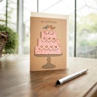 Grußkarte - Wir gratulieren - Hochzeitstorte