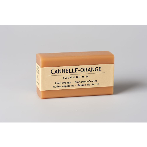 Seife mit Karité-Butter Zimt-Orange 100g