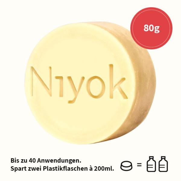 Niyok 2in1 feste Dusche & Pflege Intense Red 80g