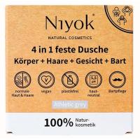 Niyok 4in1 feste Dusche Körper-Haare-Gesicht-Bart 80g