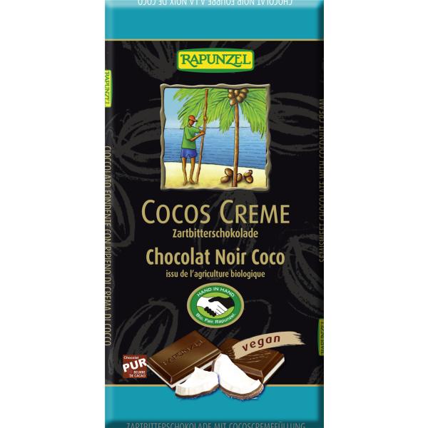 Rapunzel Cocos Creme Zartbitter Schokolade gefüllt, Bio, 100g