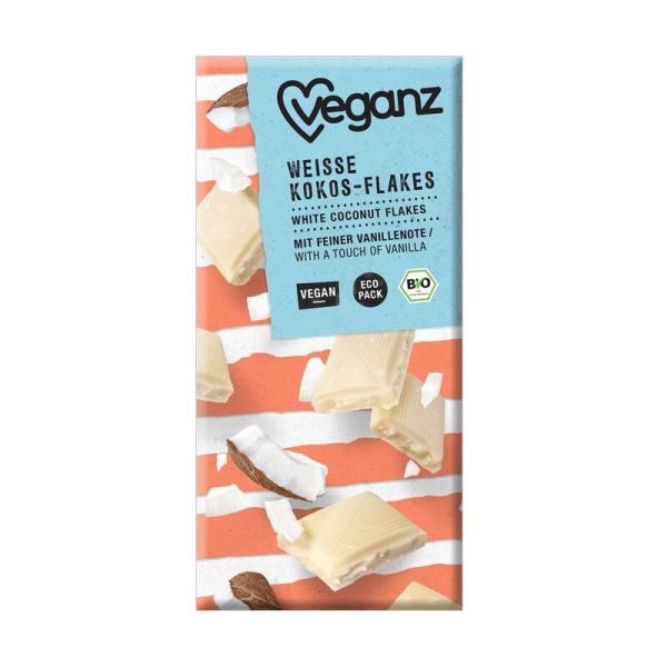 Veganz Bio Weiße Kokos-Flakes 80g