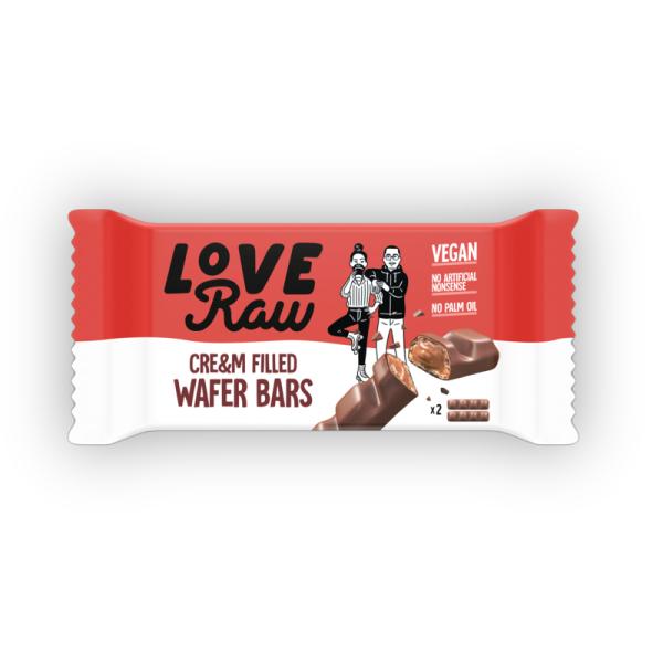 Love Raw Cream Filled Wafer 43g