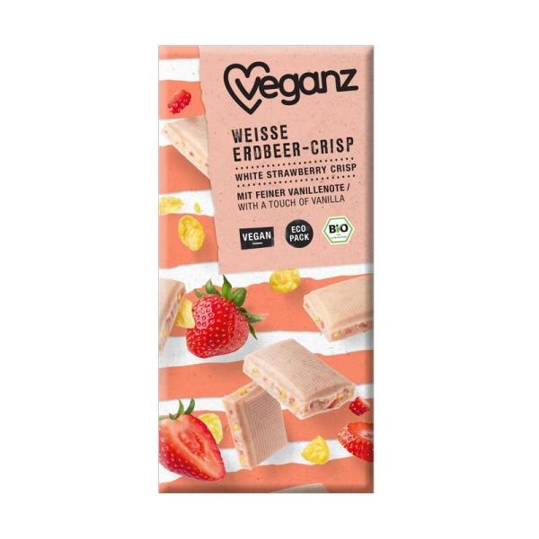Veganz Bio Weiße Erdbeer-Crisp 80g