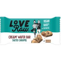 Love Raw Cream Filled Wafer Salted Caramel 45g