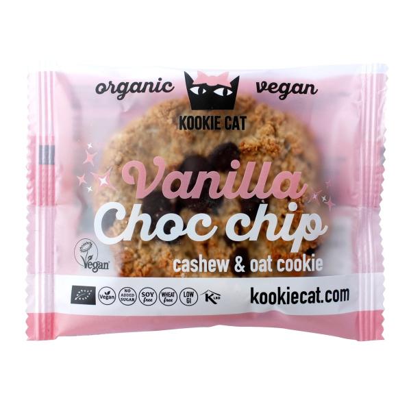 Kookie Cat Vanille Schoko Chips Keks, Bio 50g